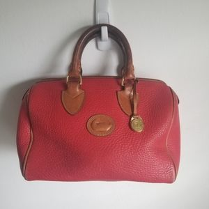 Dooney and Bourke R28 Vintage Satchel Red